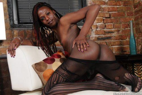 Dominatrix Black Tranny Twix Voodoo Doll Shakes her Ass