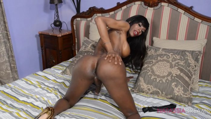 Solo Jack off with TS Natassia Dreams